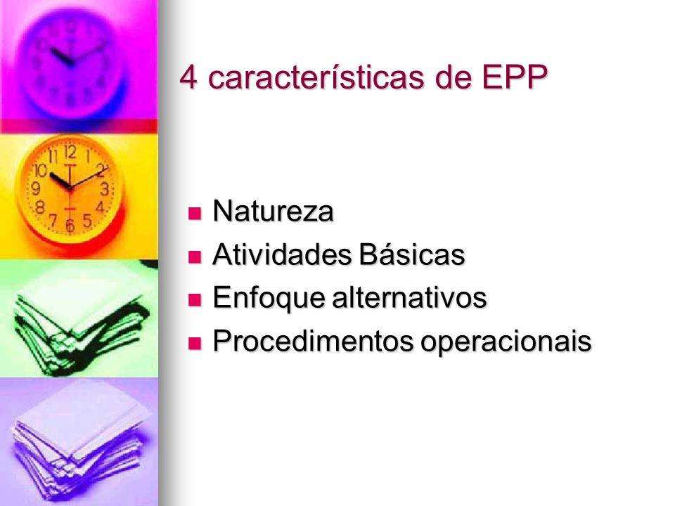 4 características de EPP