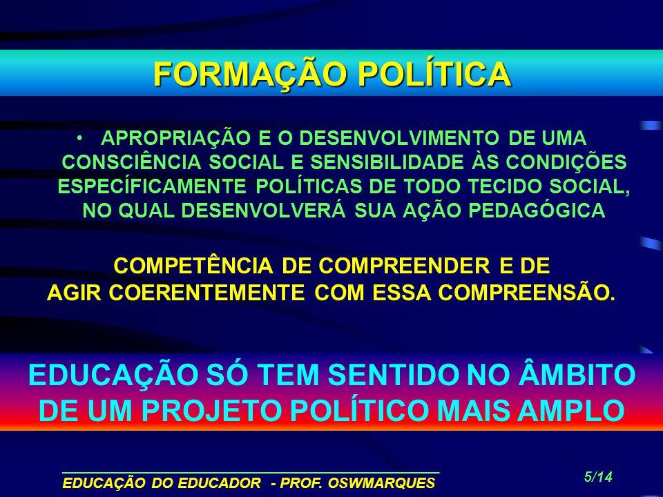FORMAÇÃO POLÍTICA