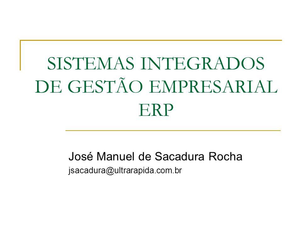 SISTEMAS INTEGRADOS DE GESTÃO EMPRESARIAL ERP