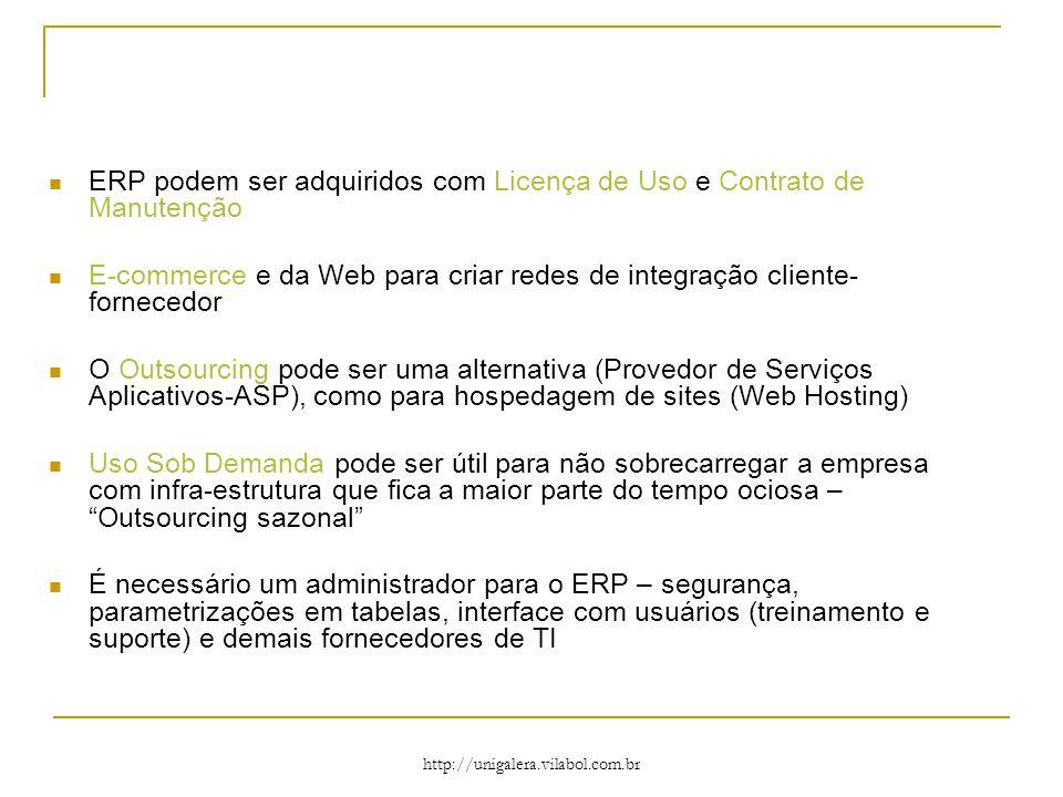 ERP podem ser adquiridos com Licença de Uso e Contrato de Manutenção
