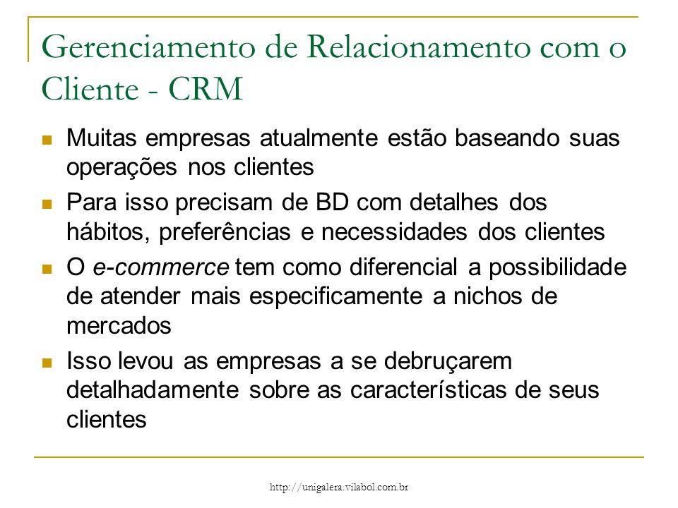 Gerenciamento de Relacionamento com o Cliente - CRM