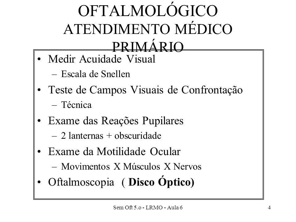 EXAME NEURO-OFTALMOLÓGICO ATENDIMENTO MÉDICO PRIMÁRIO