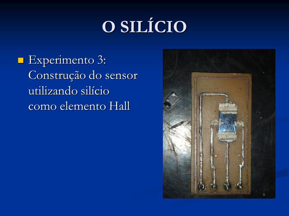 O SILÍCIO Experimento 3: Construção do sensor utilizando silício como elemento Hall