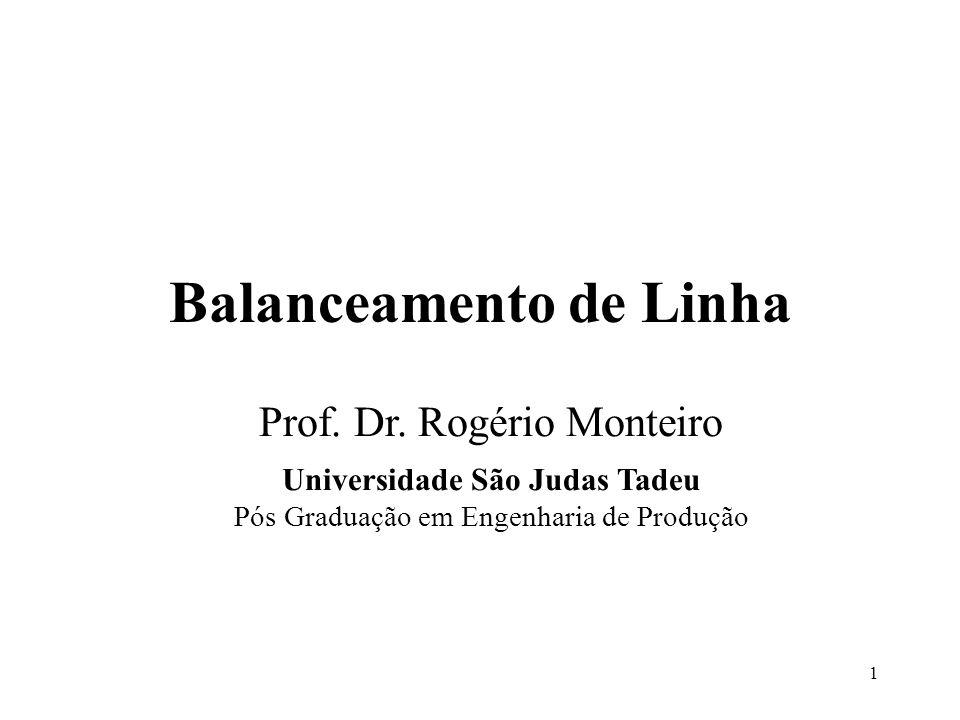 Balanceamento de Linha Universidade São Judas Tadeu