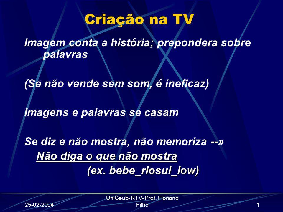 UniCeub- RTV- Prof. Floriano Filho