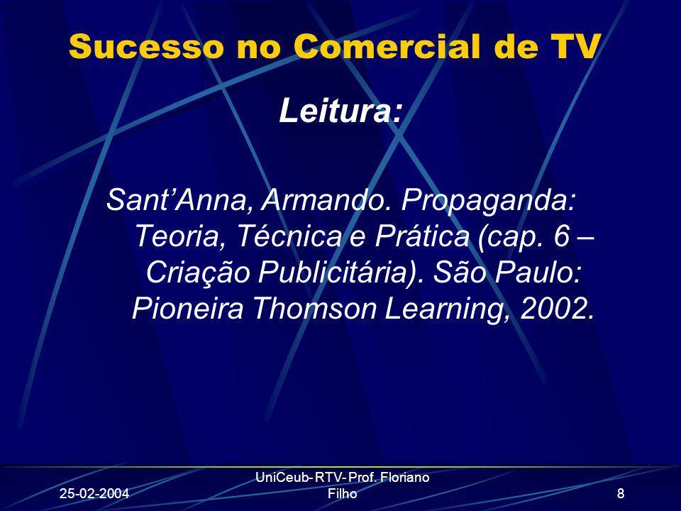 Sucesso no Comercial de TV