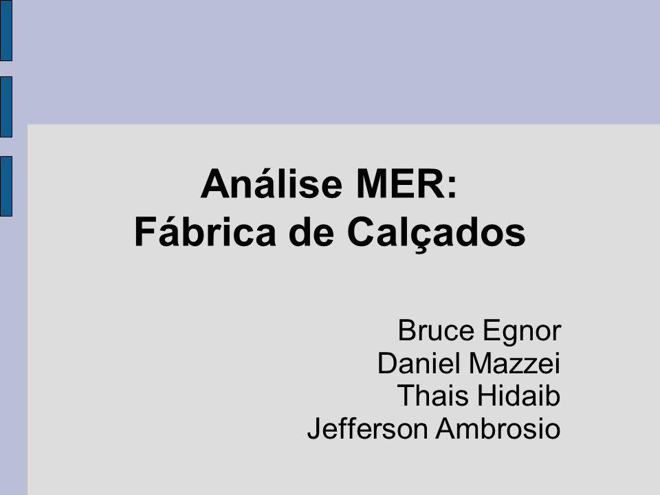 Análise MER: Fábrica de Calçados