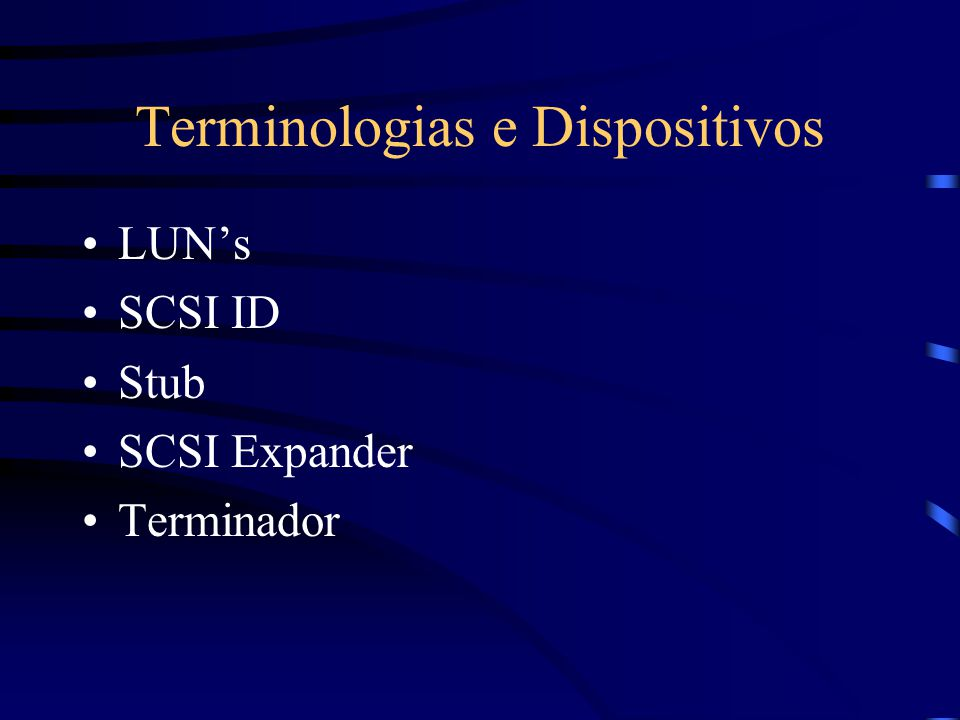 Terminologias e Dispositivos
