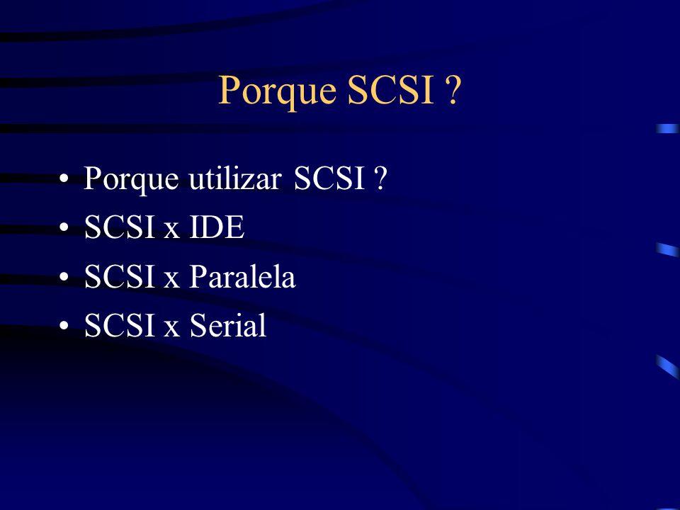 Porque SCSI Porque utilizar SCSI SCSI x IDE SCSI x Paralela