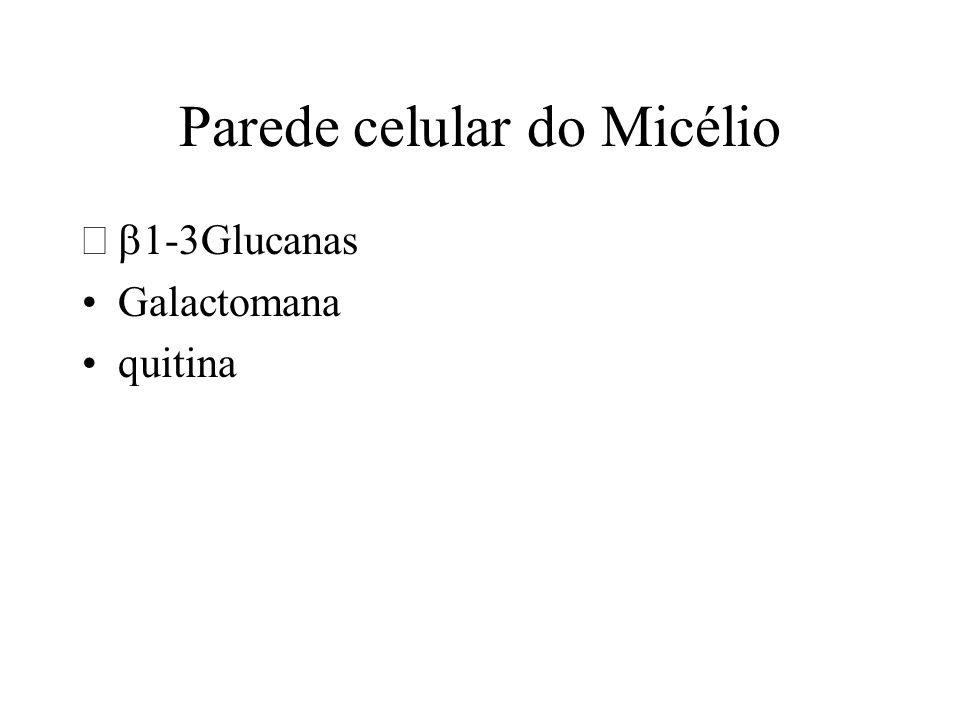 Parede celular do Micélio