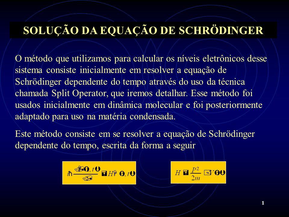 SOLUÇÃO DA EQUAÇÃO DE SCHRÖDINGER