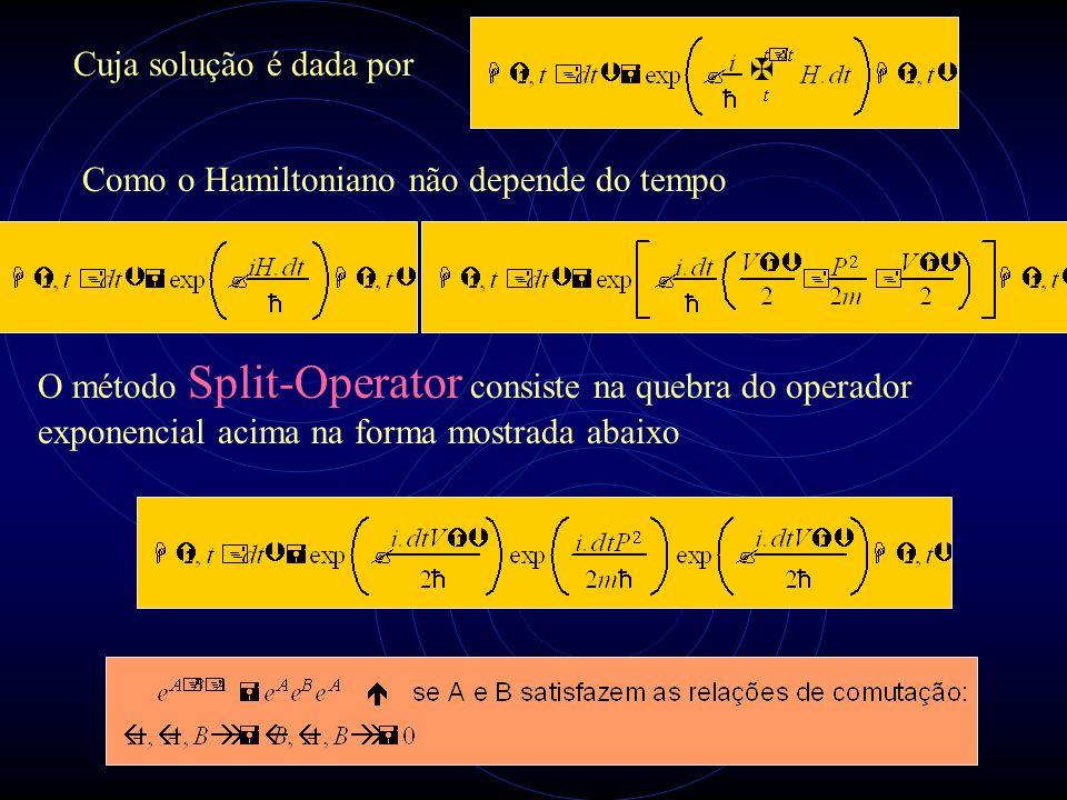 Cuja solução é dada por Como o Hamiltoniano não depende do tempo.
