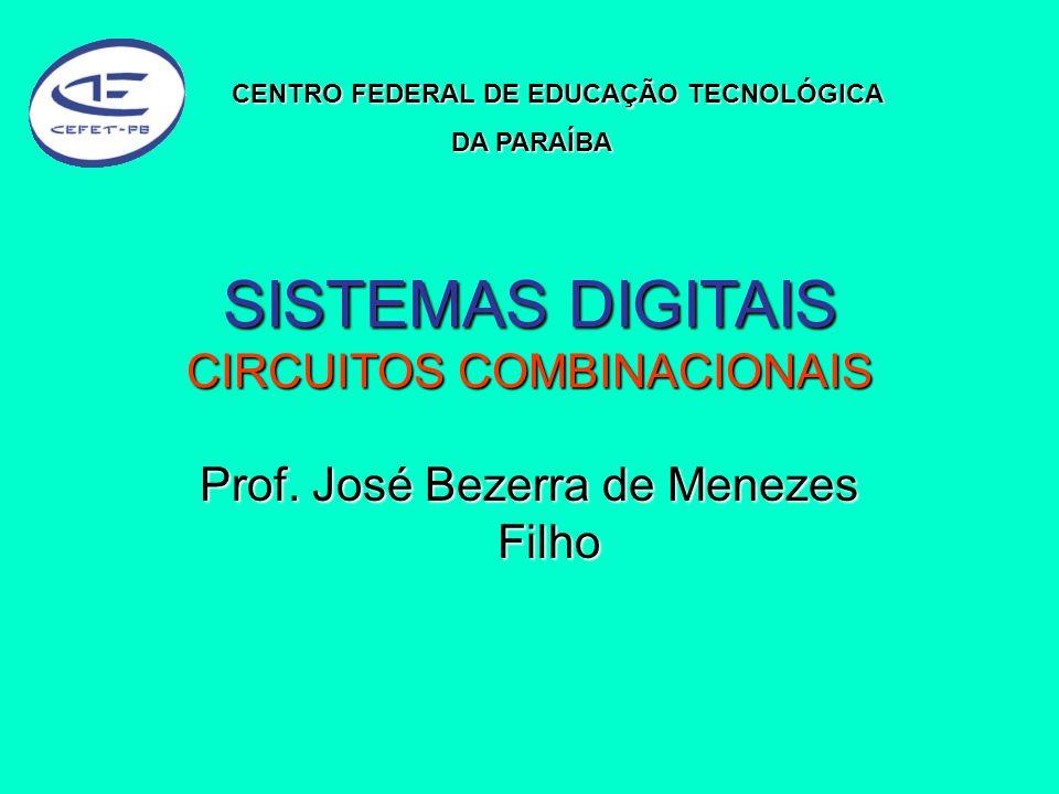 SISTEMAS DIGITAIS CIRCUITOS COMBINACIONAIS