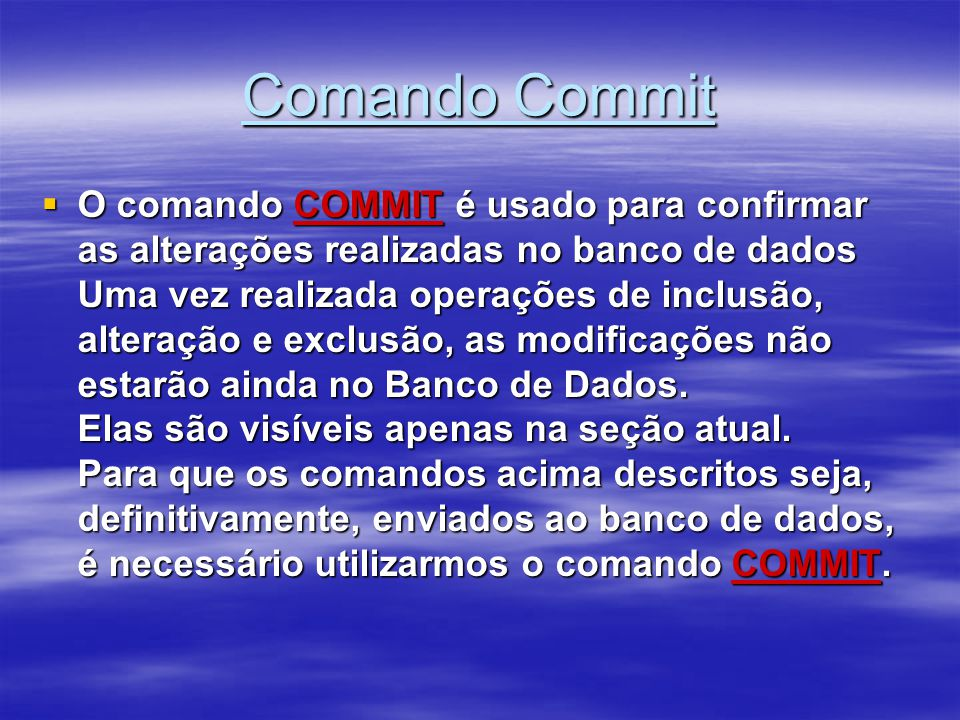 Comando Commit