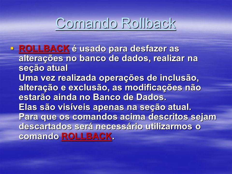 Comando Rollback