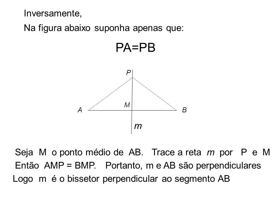 PA=PB Inversamente, Na figura abaixo suponha apenas que: m