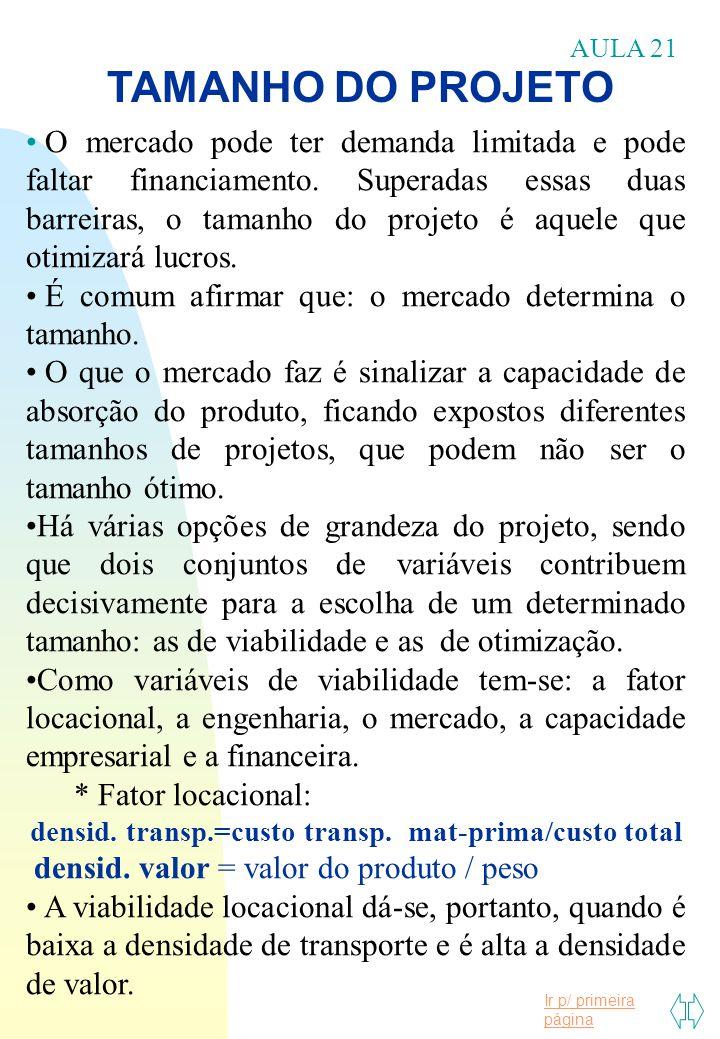 densid. transp.=custo transp. mat-prima/custo total