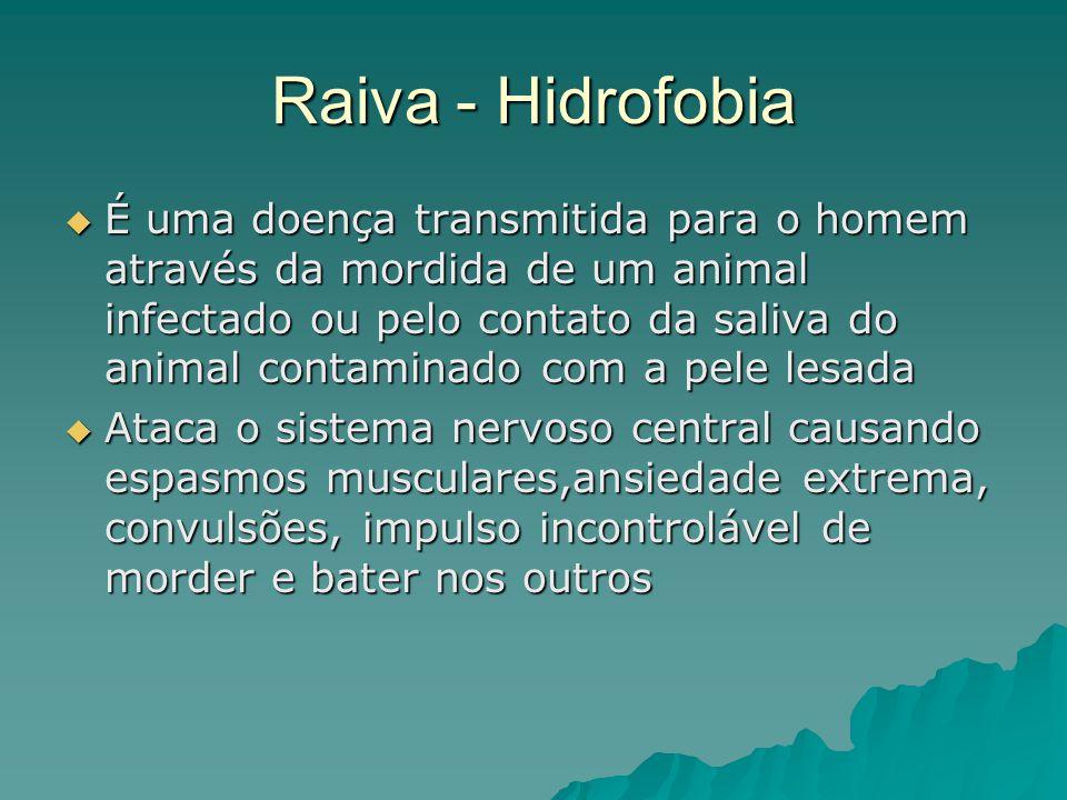 Raiva - Hidrofobia