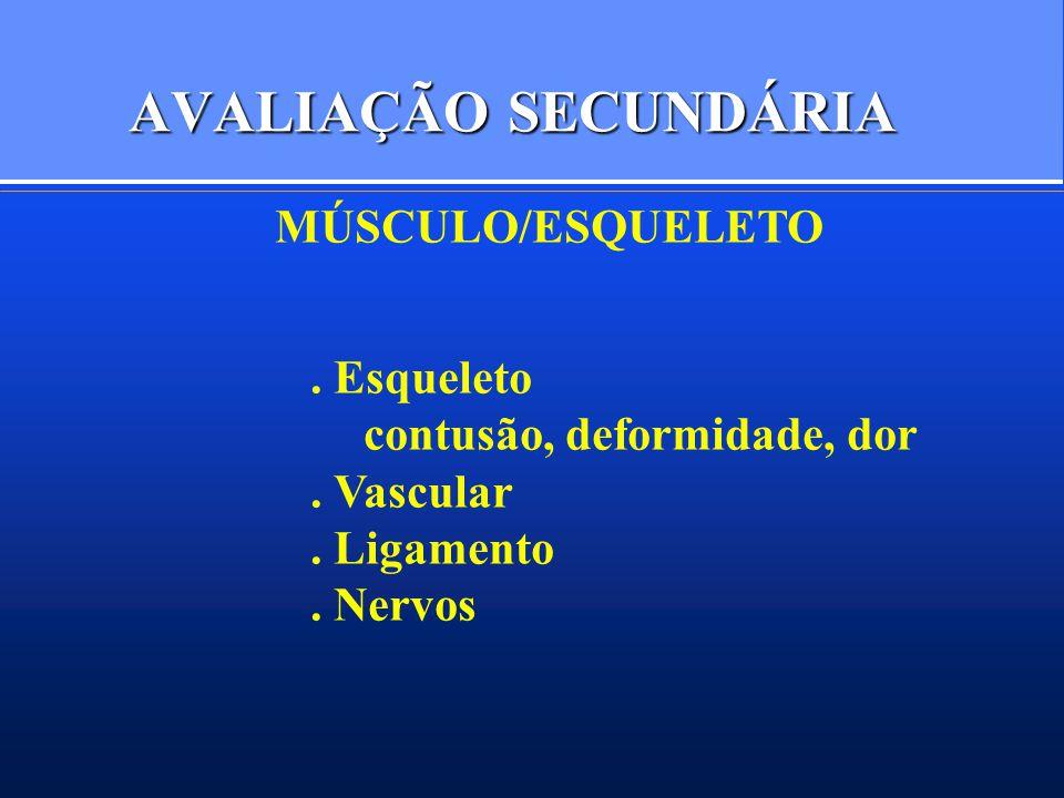 AVALIAÇÃO SECUNDÁRIA MÚSCULO/ESQUELETO . Esqueleto