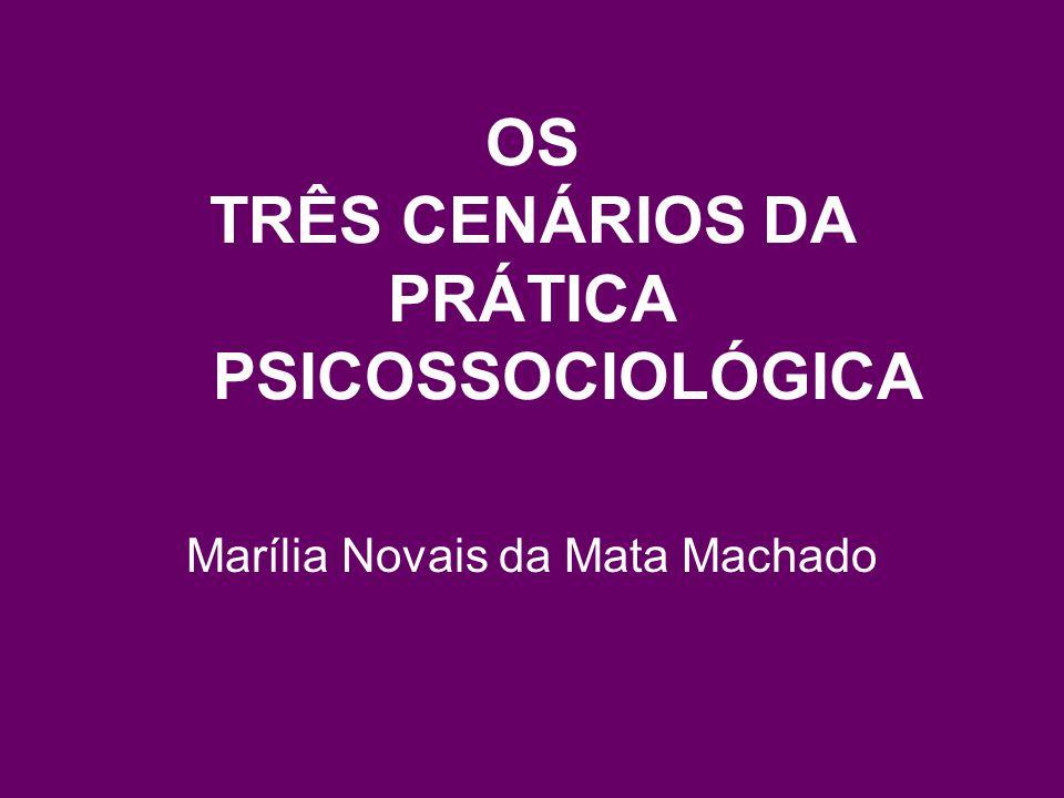 OS TRÊS CENÁRIOS DA PRÁTICA PSICOSSOCIOLÓGICA