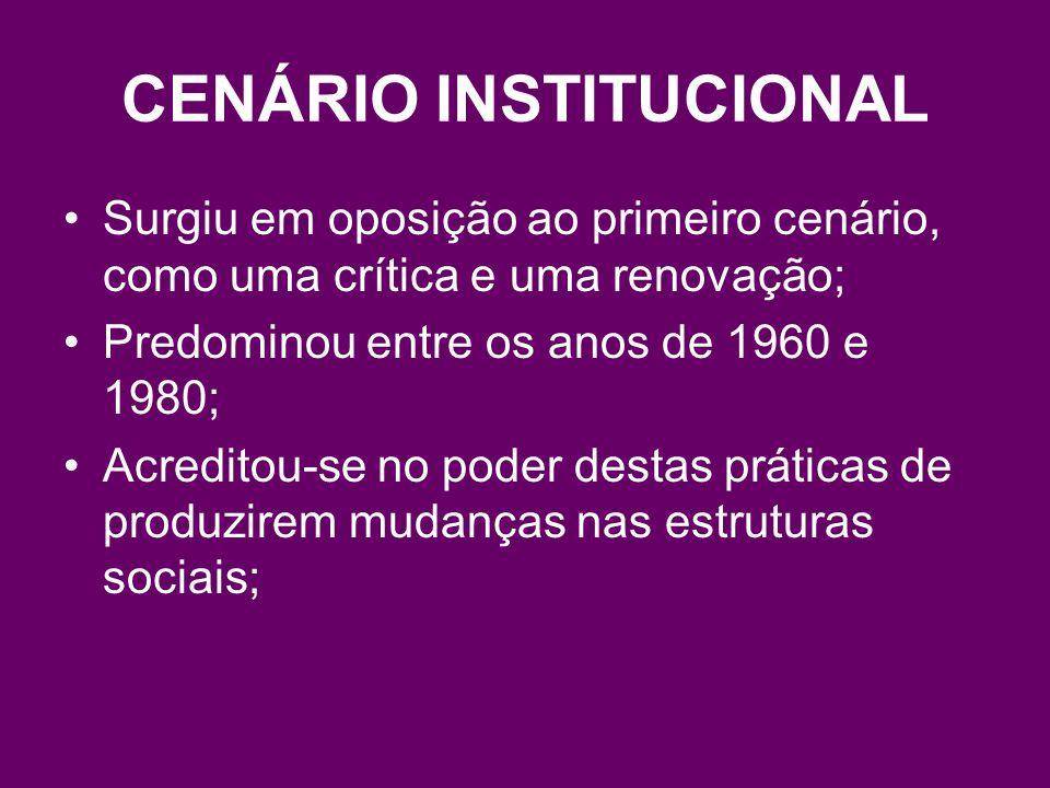 CENÁRIO INSTITUCIONAL