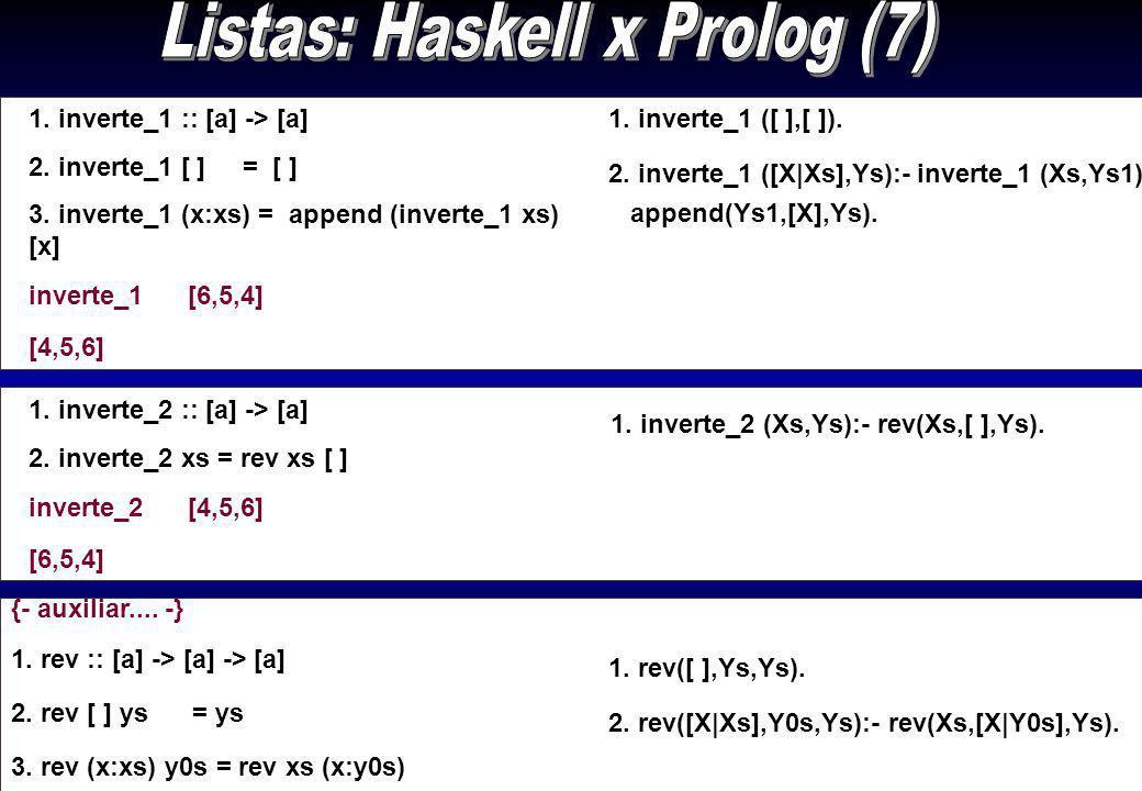 Listas: Haskell x Prolog (7)