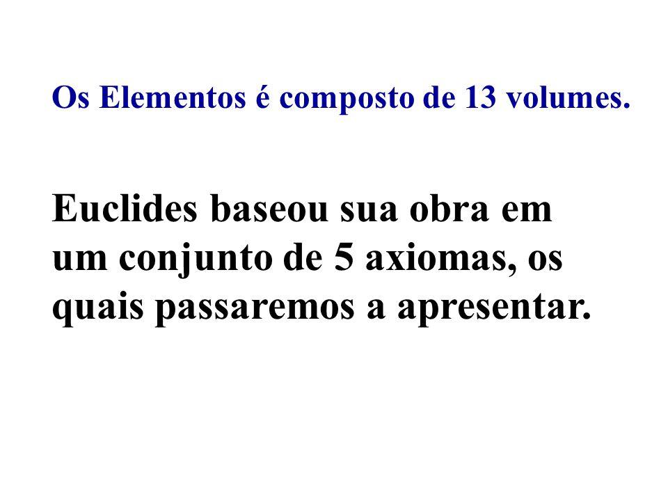 Os Elementos é composto de 13 volumes.
