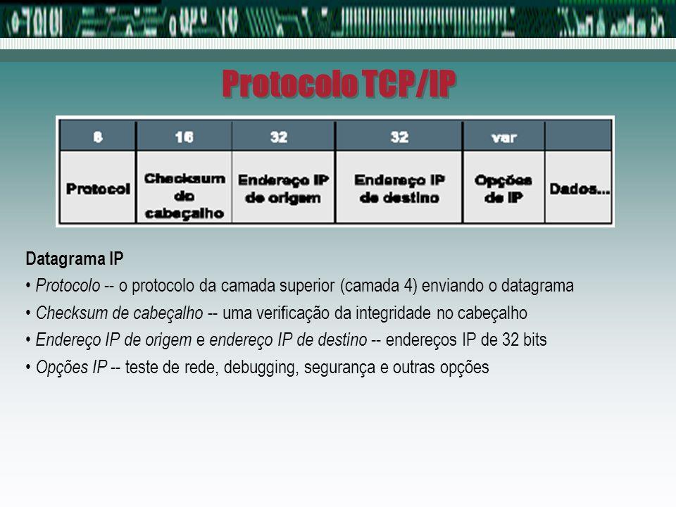 Protocolo TCP/IP Datagrama IP