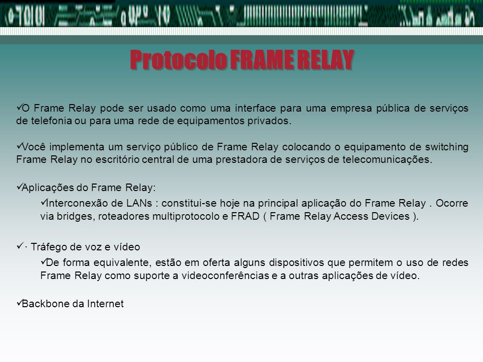 Protocolo FRAME RELAY
