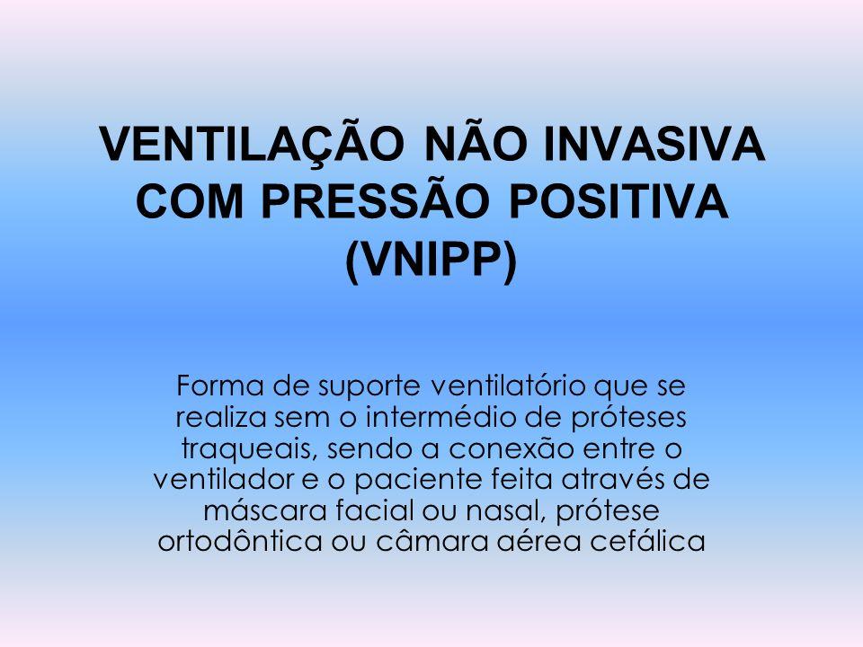 VENTILAÇÃO NÃO INVASIVA COM PRESSÃO POSITIVA (VNIPP)