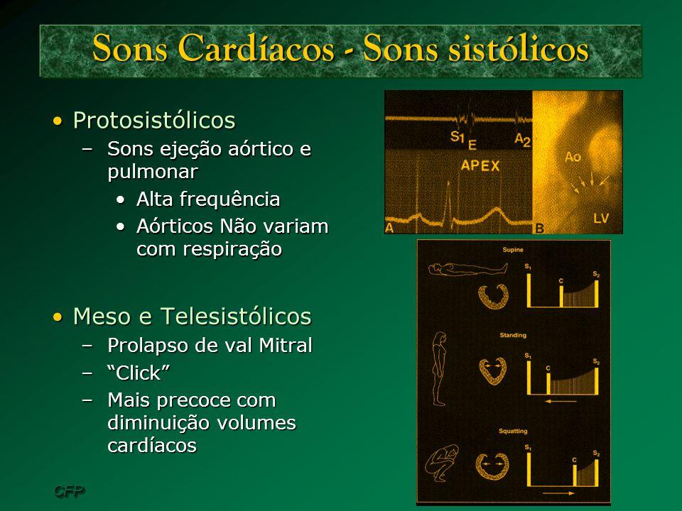 Sons Cardíacos - Sons sistólicos