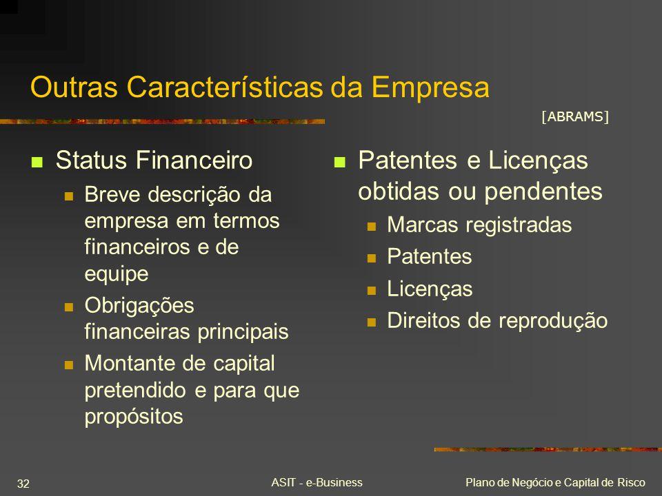Outras Características da Empresa
