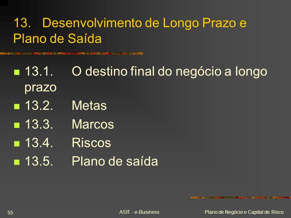 13. Desenvolvimento de Longo Prazo e Plano de Saída