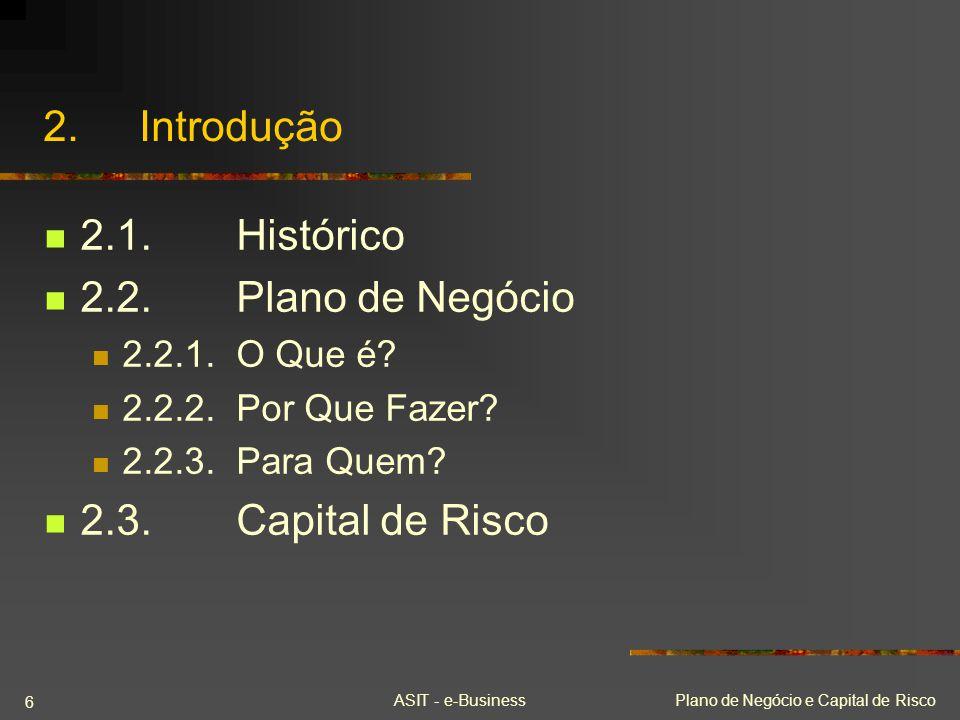 2. Introdução 2.1. Histórico 2.2. Plano de Negócio