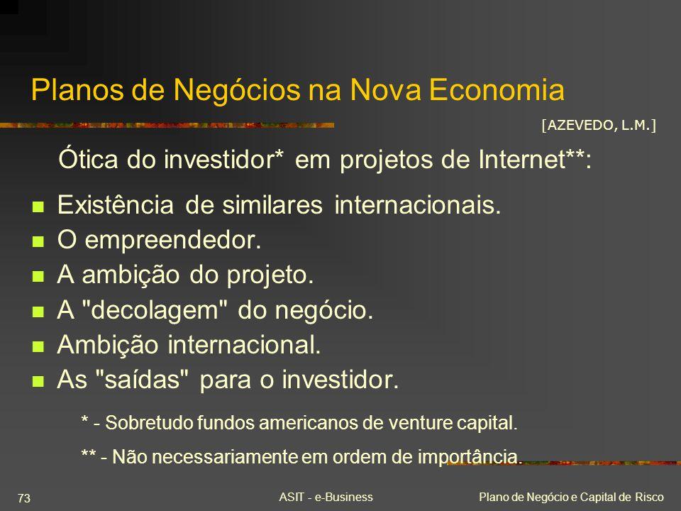 Planos de Negócios na Nova Economia