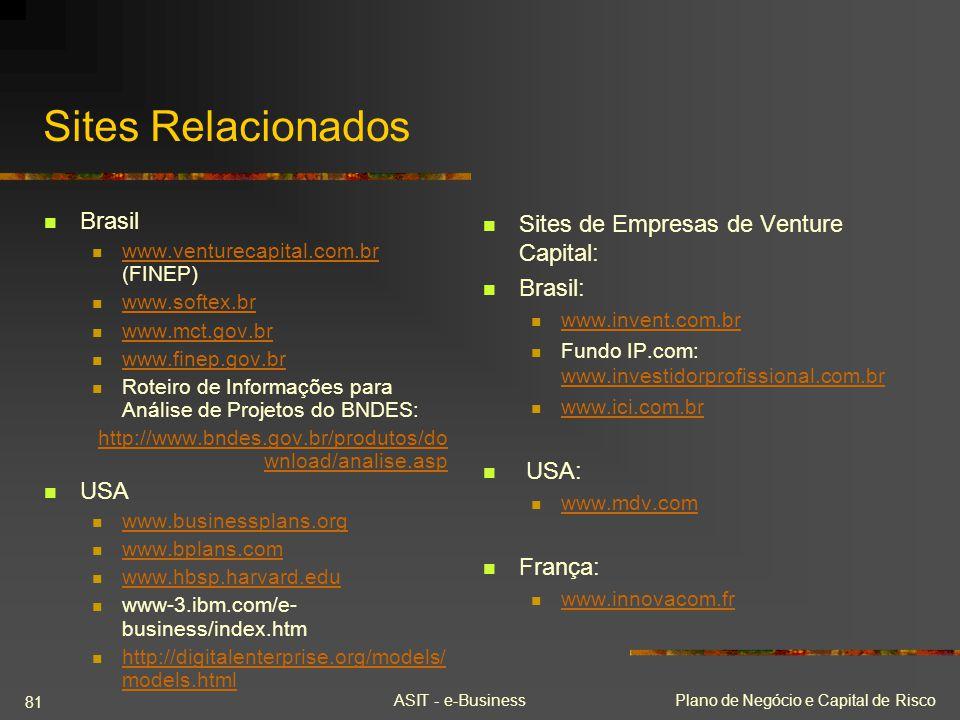 Sites Relacionados Brasil USA Sites de Empresas de Venture Capital: