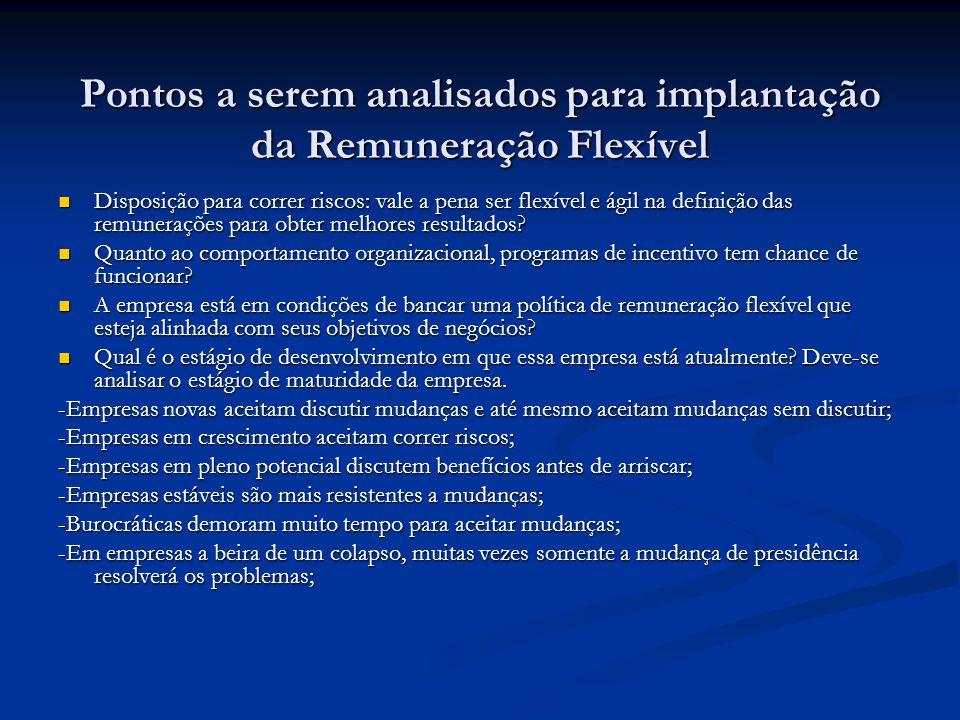 Pontos a serem analisados para implantação da Remuneração Flexível