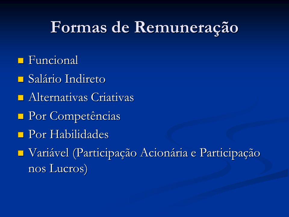 Formas de Remuneração Funcional Salário Indireto
