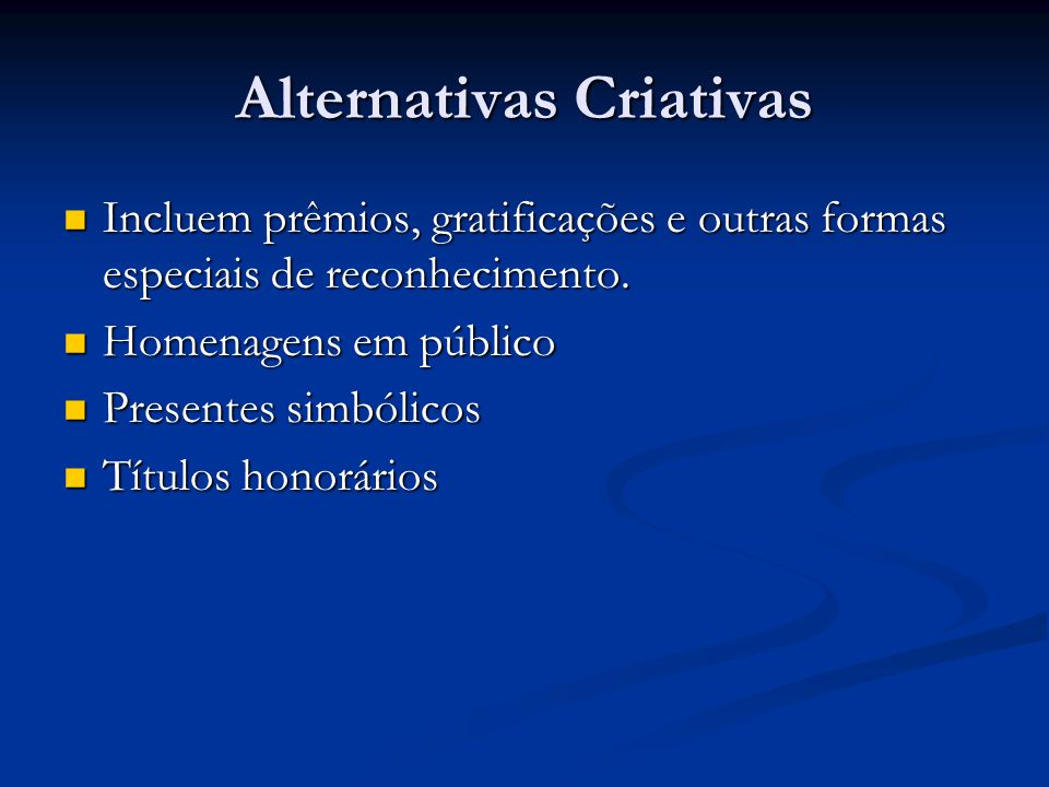 Alternativas Criativas