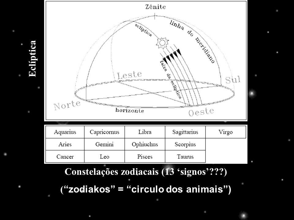 Constelações zodiacais (13 'signos' )