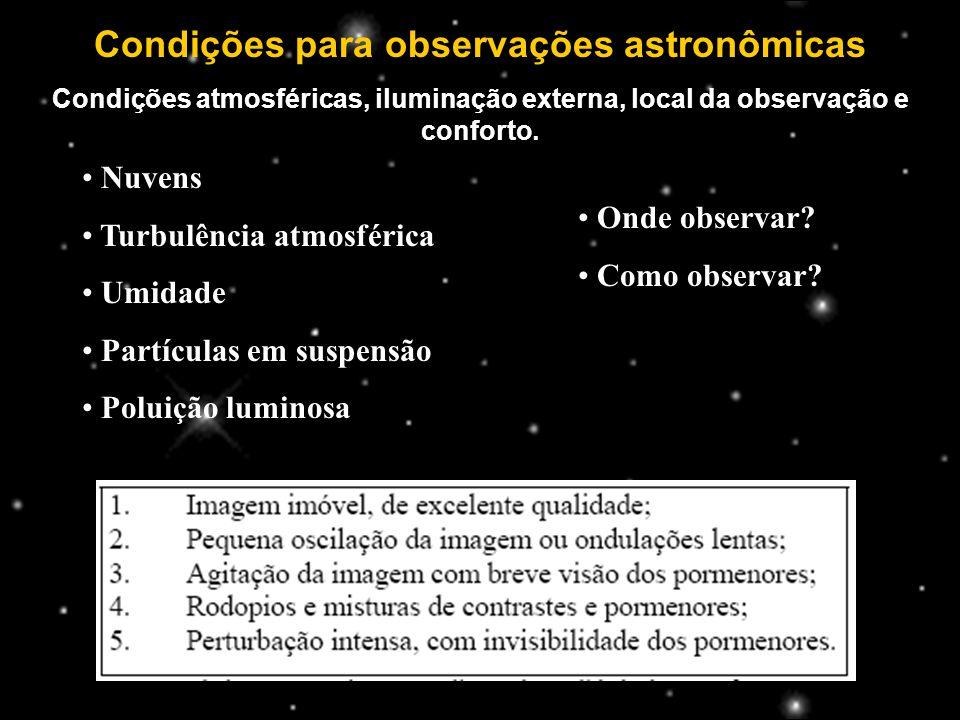 Condições para observações astronômicas