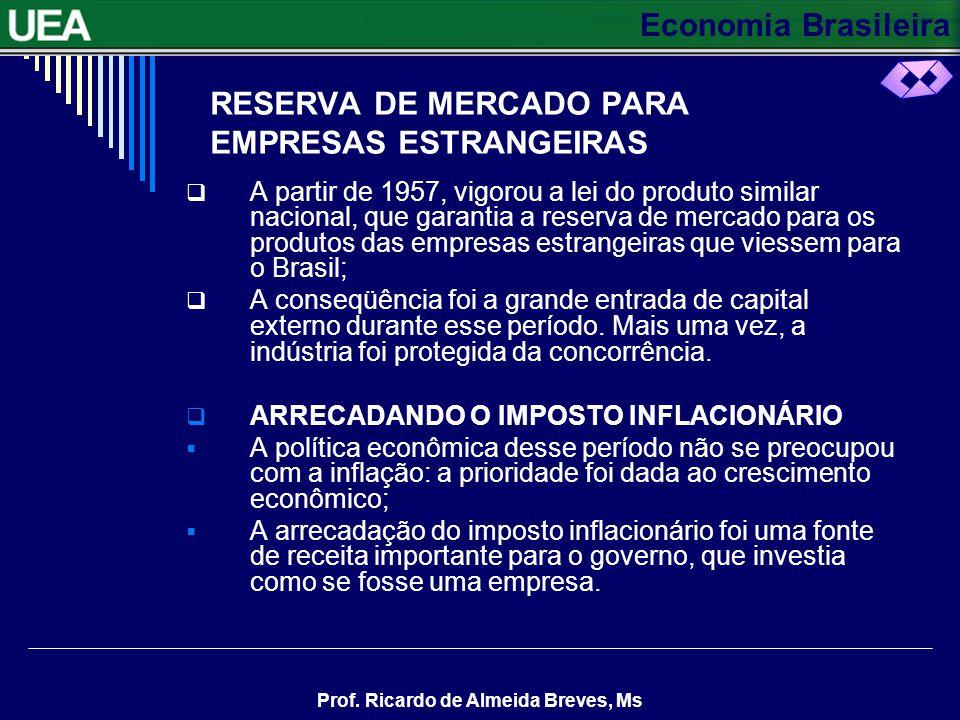 RESERVA DE MERCADO PARA EMPRESAS ESTRANGEIRAS