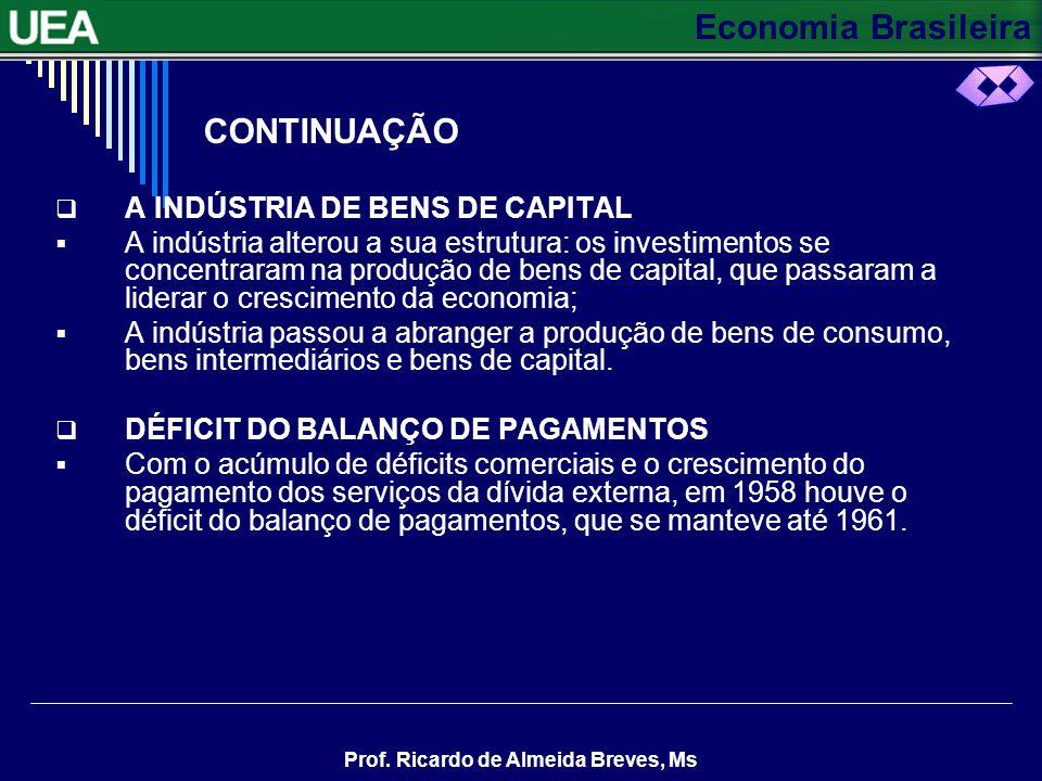 CONTINUAÇÃO A INDÚSTRIA DE BENS DE CAPITAL