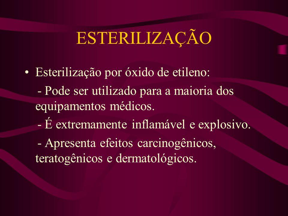 ESTERILIZAÇÃO Esterilização por óxido de etileno: