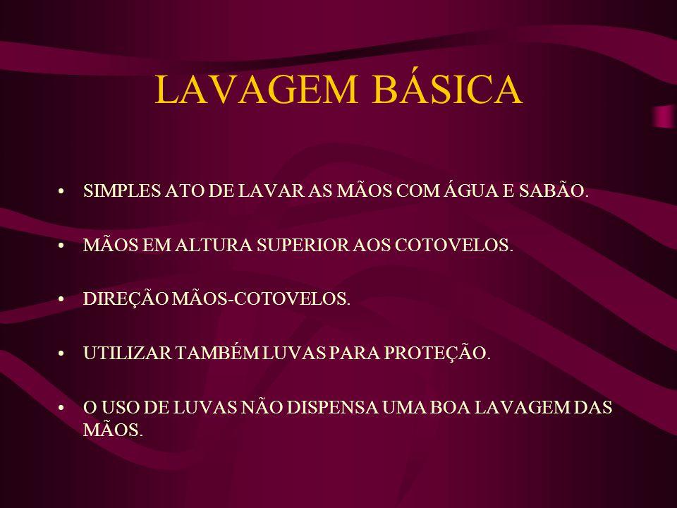 LAVAGEM BÁSICA SIMPLES ATO DE LAVAR AS MÃOS COM ÁGUA E SABÃO.