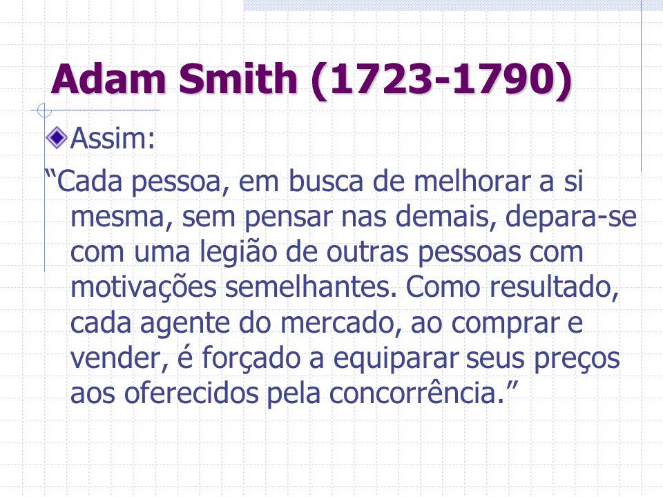 Adam Smith (1723-1790) Assim: