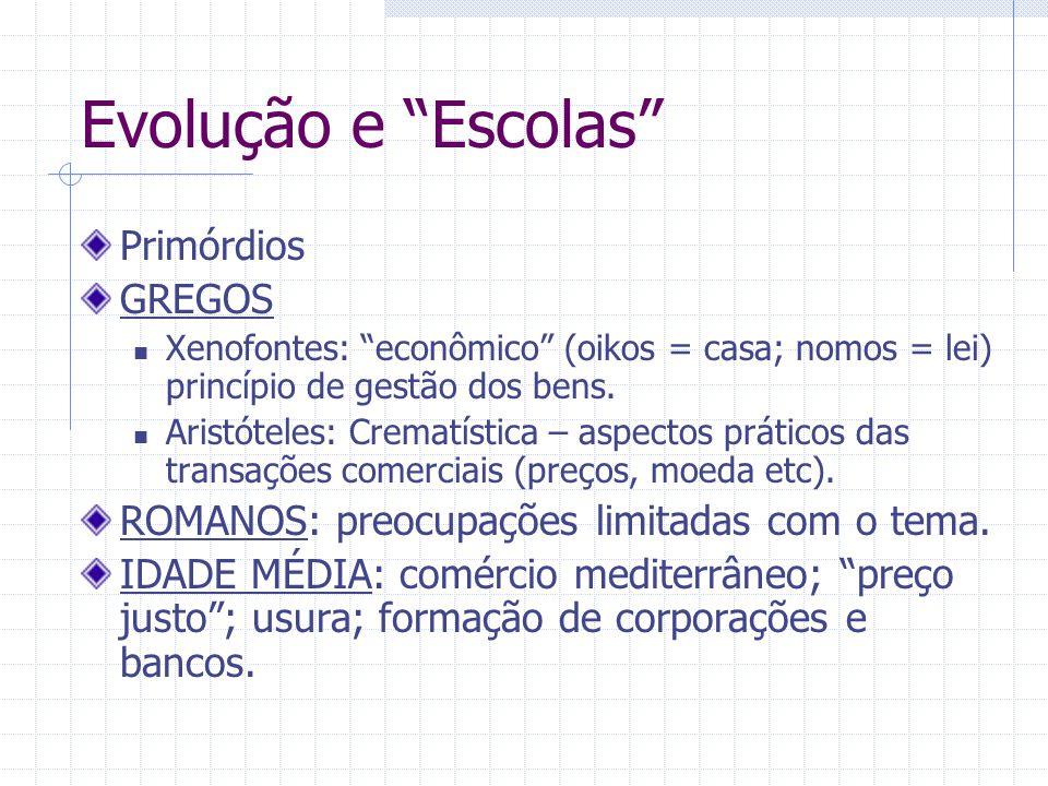 Evolução e Escolas Primórdios GREGOS