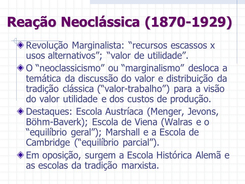 Reação Neoclássica (1870-1929)