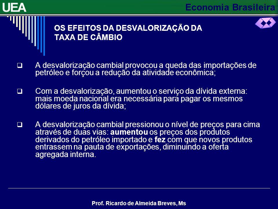 OS EFEITOS DA DESVALORIZAÇÃO DA TAXA DE CÂMBIO