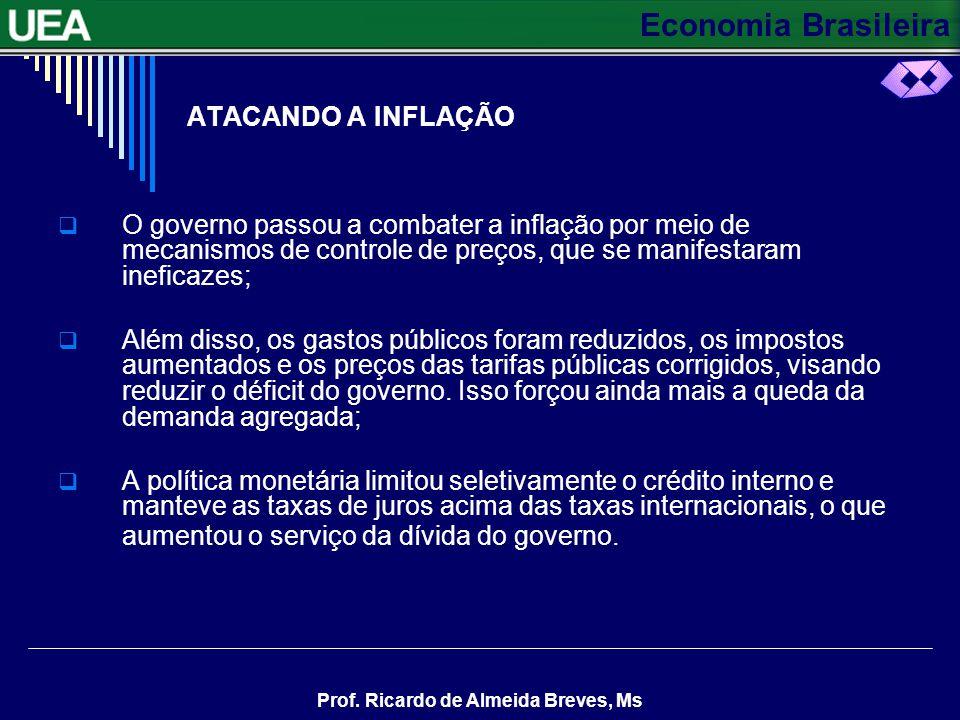 ATACANDO A INFLAÇÃO O governo passou a combater a inflação por meio de mecanismos de controle de preços, que se manifestaram ineficazes;